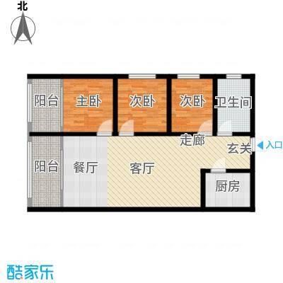皇城西岸98.48㎡皇城西岸户型图户型图3室2厅1卫1厨户型3室2厅1卫1厨