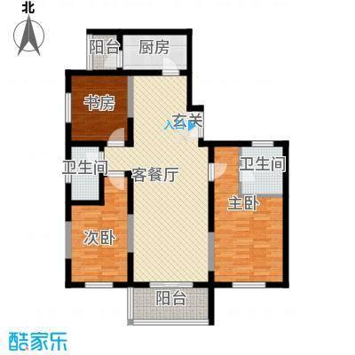 名城雅居126.55㎡名城雅居户型图3室2厅2卫户型3室2厅2卫