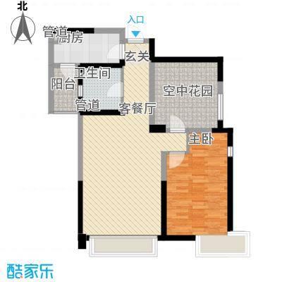 曲江城市花园86.50㎡G3户型图实得面积:97.5㎡户型2室2厅1卫1厨