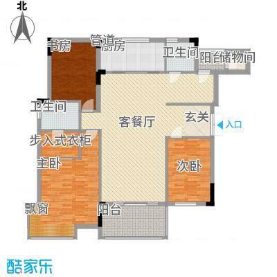 徽商城市风景 3室 户型图