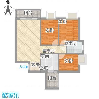 铂林国际公寓80.00㎡铂林国际公寓户型图3室2厅户型图3室2厅1卫1厨户型3室2厅1卫1厨