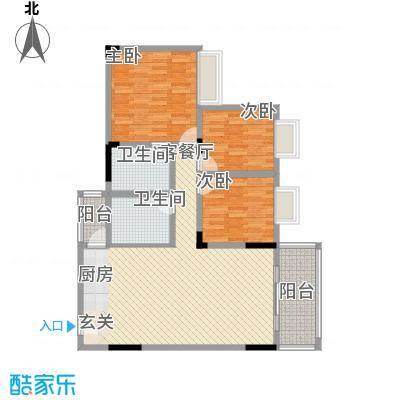 锦绣生态园101.29㎡锦绣生态园户型图3室2厅2卫1厨户型10室