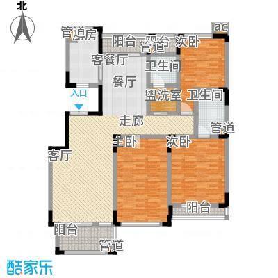 绿城桂花园150.00㎡绿城桂花园户型图电梯景观洋房B3室2厅2卫1厨户型3室2厅2卫1厨