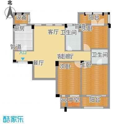 绿城桂花园119.00㎡绿城桂花园户型图8C3室2厅2卫1厨户型3室2厅2卫1厨