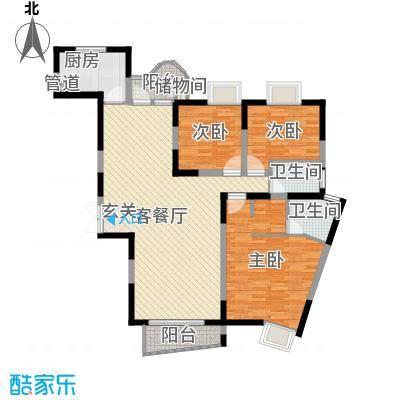 金星家园139.34㎡金星家园户型图逸湖居3室2厅2卫1厨户型3室2厅2卫1厨