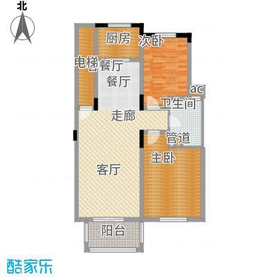 绿城桂花园99.45㎡绿城桂花园户型图B户型2室2厅1卫1厨户型2室2厅1卫1厨