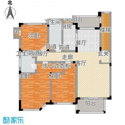 绿城桂花园143.12㎡绿城桂花园户型图J户型3室2厅2卫1厨户型3室2厅2卫1厨