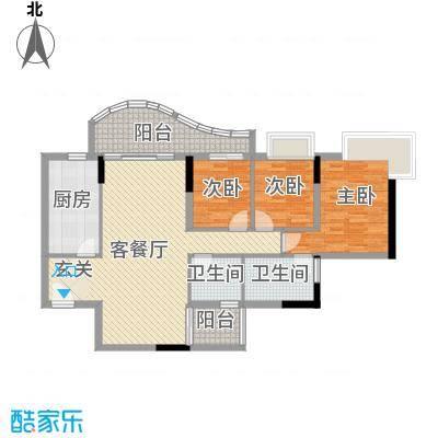 灵溪美居126.79㎡灵溪美居户型图3室2厅户型图3室2厅2卫1厨户型3室2厅2卫1厨