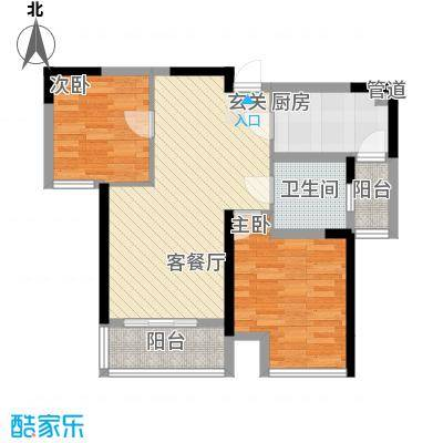 中铁万和城79.90㎡中铁万和城户型图F-2户型图2室2厅1卫1厨户型2室2厅1卫1厨