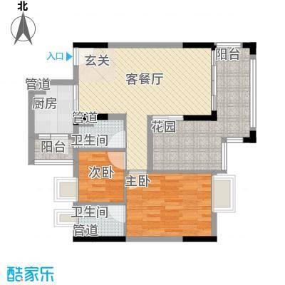 美域华庭89.41㎡美域华庭户型图1号楼4单位2室2厅2卫1厨户型2室2厅2卫1厨