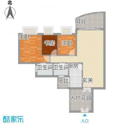 群星新�108.22㎡7号楼G1户型3室2厅2卫1厨