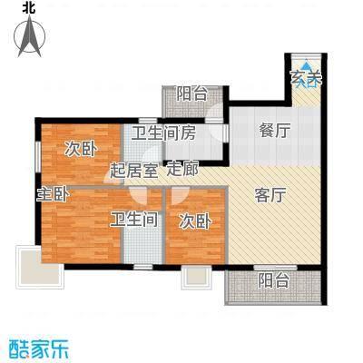 曲江易公馆114.98㎡A5户型3室2厅2卫1厨