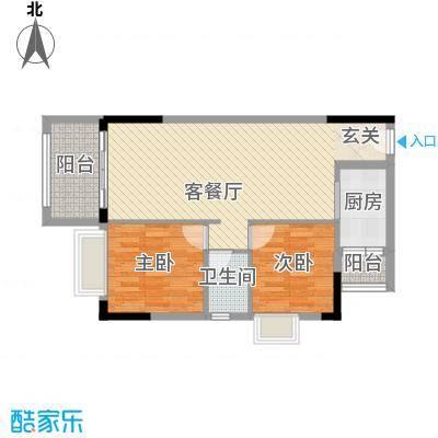 美域华庭88.20㎡美域华庭户型图3号楼1单位2室2厅1卫1厨户型2室2厅1卫1厨