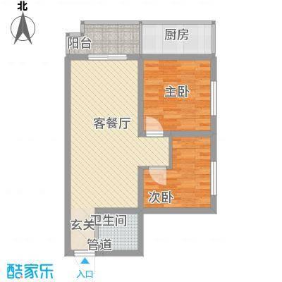 金源都市公寓 户型图 2室2厅1卫