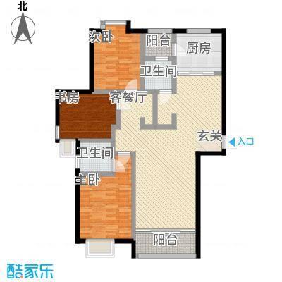 上海城市136.00㎡上海城市户型图3室2厅2卫1厨户型10室