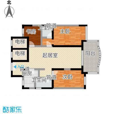 翰林雅居120.86㎡翰林雅居户型图14号楼02、03室3室户型3室