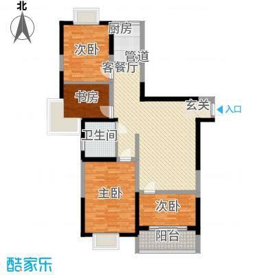 上海城市129.00㎡上海城市户型图8#9#楼B户型3室2厅1卫户型3室2厅1卫