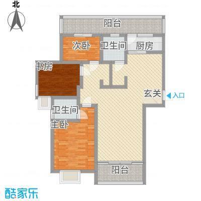 上海城市136.77㎡上海城市户型图C户型3室2厅2卫1厨户型3室2厅2卫1厨