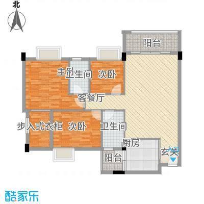 嘉豪雅苑118.75㎡嘉豪雅苑户型图3、4栋3-8标准层03单位户型3室2厅2卫户型3室2厅2卫