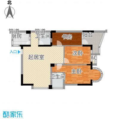 翰林雅居114.52㎡翰林雅居户型图15号楼02、04室3室户型3室