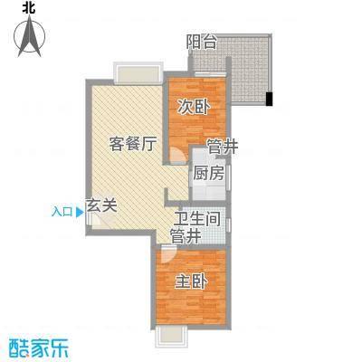 太白新苑86.00㎡太白新苑户型图2室2厅1卫户型2室2厅1卫
