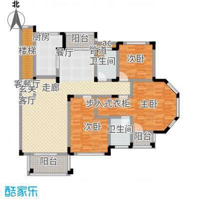 绿城桂花园146.19㎡绿城桂花园户型图E户型3室2厅2卫1厨户型3室2厅2卫1厨
