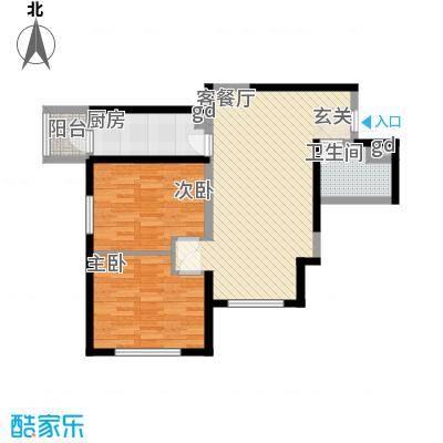 万科新地城94.00㎡万科新地城户型图紫台f1户型2室2厅1卫1厨户型2室2厅1卫1厨