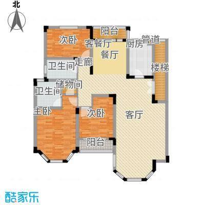 绿城桂花园152.99㎡绿城桂花园户型图H户型3室2厅2卫1厨户型3室2厅2卫1厨