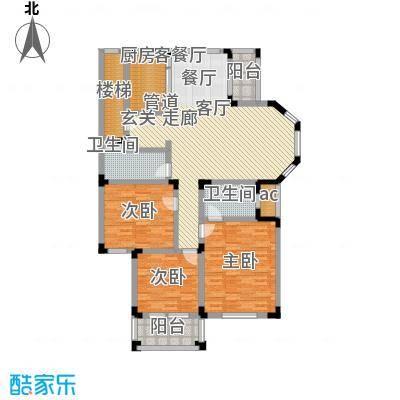 绿城桂花园136.54㎡绿城桂花园户型图F户型3室2厅2卫1厨户型3室2厅2卫1厨