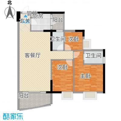江畔华庭136.00㎡江畔华庭户型图3室2厅户型图3室2厅2卫1厨户型3室2厅2卫1厨