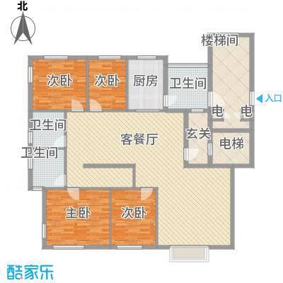 豪盛时代华城 户型图 4室2厅2卫