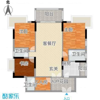 勤天一品树院户型图3室2厅户型图 3室2厅1卫1厨