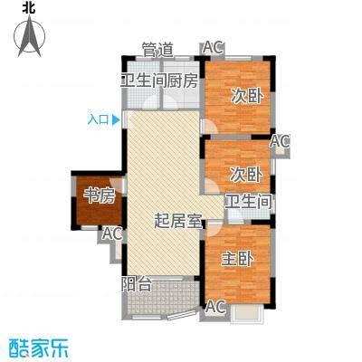 紫金山庄户型图G4 3室2厅2卫