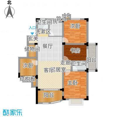 紫金山庄户型图F4 3室2厅2卫