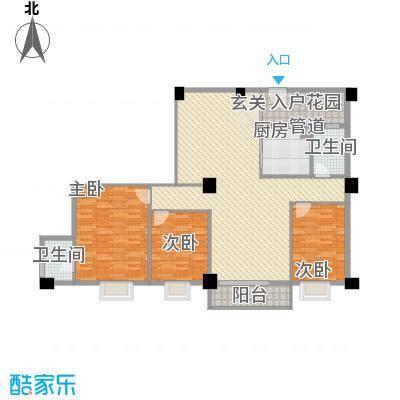 美景苑120.00㎡美景苑户型图C1户型图3室2厅2卫户型3室2厅2卫
