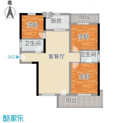 兴海苑85.00㎡兴海苑3室户型3室