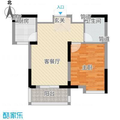岸上玫瑰60.24㎡岸上玫瑰户型图3#B户型1室2厅1卫1厨户型1室2厅1卫1厨