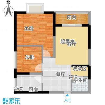蔚蓝风景78.91㎡蔚蓝风景户型图F户型图2室2厅1卫1厨户型2室2厅1卫1厨