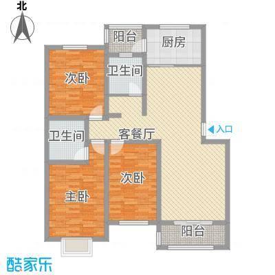 江晨园145.00㎡江晨园3室户型3室