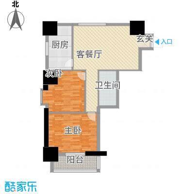 海荣名城二期104.19㎡HR4户型2室2厅1卫1厨