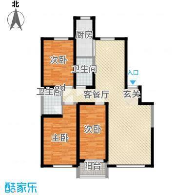 美丽华花园140.00㎡美丽华花园3室户型3室