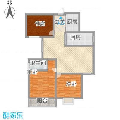 含光佳苑140.00㎡含光佳苑3室户型3室