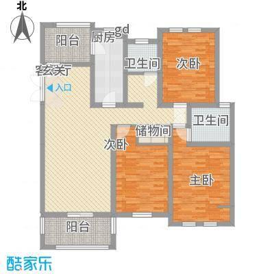 美丽华花园128.00㎡美丽华花园3室户型3室