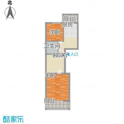 蜀苑新村 2室 户型图