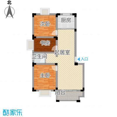 百商爱上城户型图多层洋房户型D 3室2厅1卫1厨