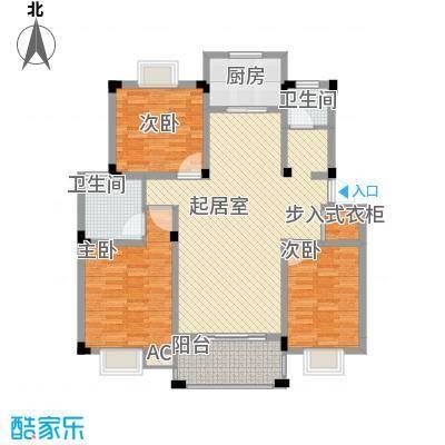 百商爱上城户型图多层洋房F户型 3室2厅2卫1厨