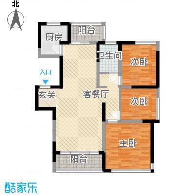 园景天下155.00㎡园景天下4室户型4室