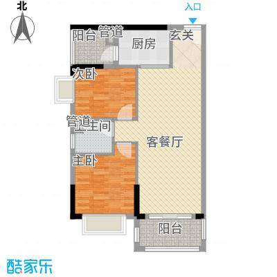 源天工程公司宿舍90.00㎡源天工程公司宿舍2室户型2室
