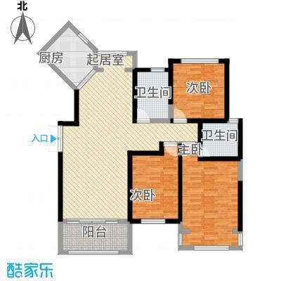新一代北城国际136.31㎡C6户型3室2厅2卫1厨