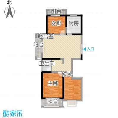 新一代北城国际117.14㎡C3户型3室2厅2卫1厨